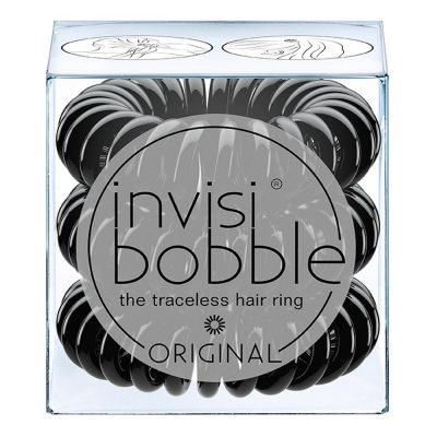 Invisi Bobble True Black Traceless Hair Rings